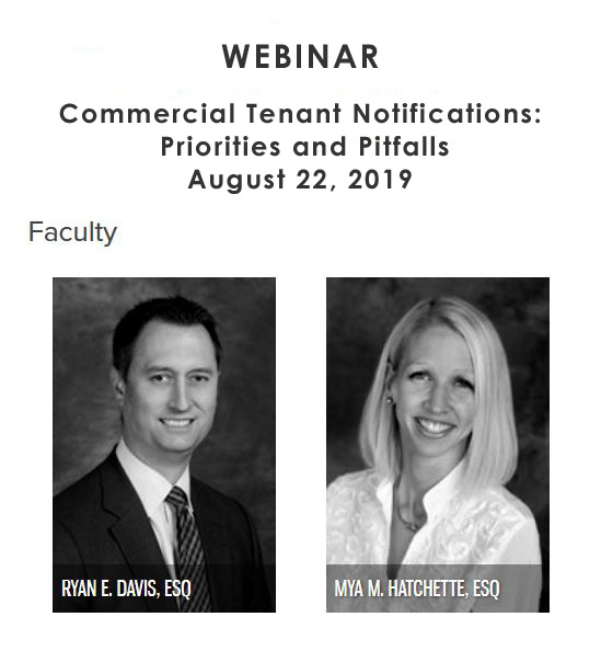 WEBINAR: Commercial Tenant Notifications: Priorities and Pitfalls