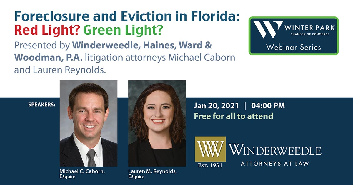 Webinar: Foreclosure and Eviction in Florida: Red Light? Green Light?