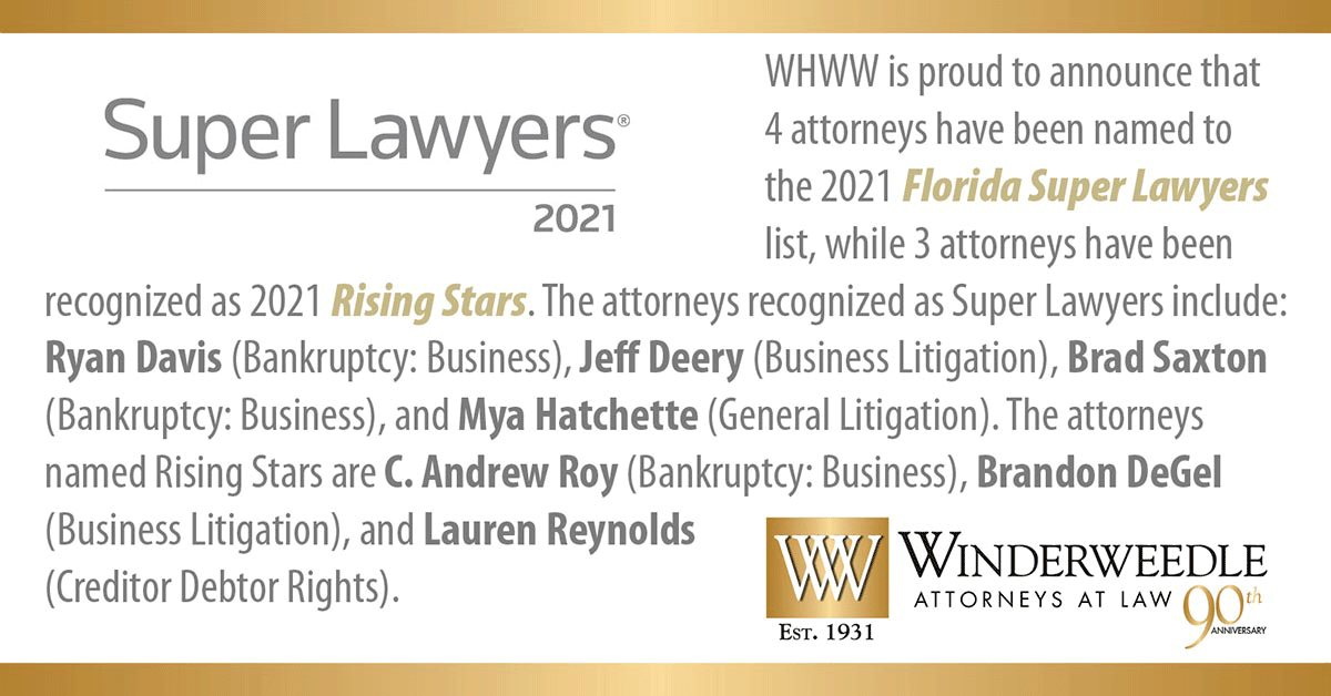 WHWW Attorneys Named 2021 Florida Super Lawyers® & Rising Stars